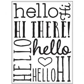 Darice Embossing Folder - Hello Bold – 3000-8376